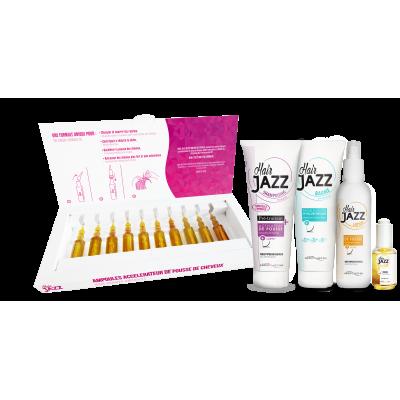 HAIR JAZZ ampoules, shampoo, balsamo, fluido e lozione - per capelli più lunghi e forti!